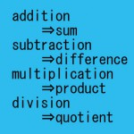 四則演算に関する特許英語表現